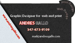Andres Gallo Business Card Back